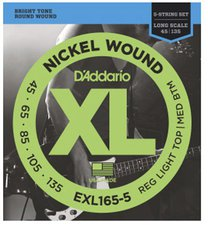 Daddario EXL165-5 Long Scale 5-String 45-135