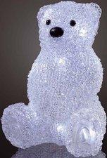 Hellum LED-Eisbär sitzend