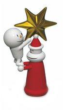 Alessi Weihnachtsbaumspitze With a little help