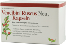 Sabona Venelbin Ruscus Neu Kapseln (50 Stk.)