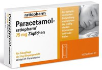 ratiopharm Paracetamol 75 mg Suppositorien (10 Stk.) (PZN: 09263913)