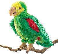 Folkmanis Handpuppe Amazonen-Papagei