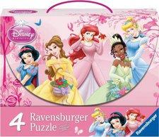 Ravensburger Disney Princess - Prinzessinnen im Rosengarten 4-in-1 (2x 64, 2x 81 Teile)