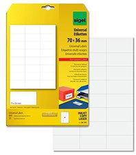 sigel LA131 Universal-Etiketten, 70 x 36 mm, weiß