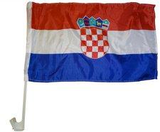 Kroatien Autofahne EM 2016