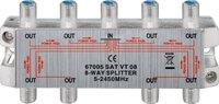 Wentronic 67005 8-fach SAT Kabel Verteiler