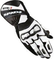 Spidi STR-1 Leather Gloves Black/White