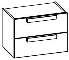 Artiqua  Dimension 111 Waschtischunterschrank (B: 60 H: 44 T: 38 cm) 2 Auszüge