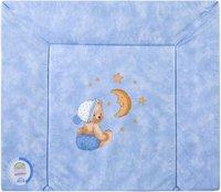 Zöllner Wickelauflage 3-Keil Mulde Kuschelbär blau 69 x 85