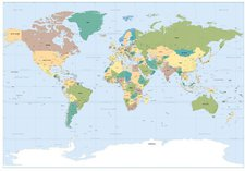 Komar Worldmap (184 x 127 cm)