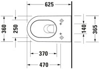 Duravit Darling New Wand-WC (254459)