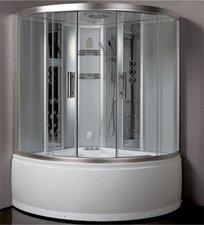 Eago Dampfdusche mit Whirlpool 150 x 150 cm (DA324-1HF3)