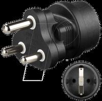 Wentronic Netzadapter Schutzkontaktbuche - Südafrika Stecker