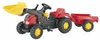 Rolly Toys rollyKid Traktor mit Lader und Anhänger rot
