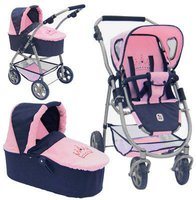 Bayer Chic Puppenwagen Emotion 2in1 navy-rosa