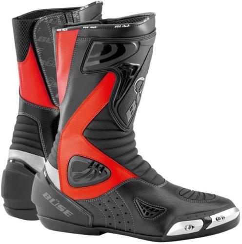 Büse Sport Stiefel schwarz/rot