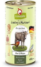 GranataPet Lieblingsmahlzeit Rind, Karotten, Spinat, Distelöl (400 g)