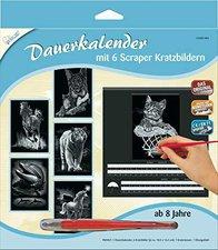 Mammut Scraper Kratzbild Dauerkalender silber (A30DK2)