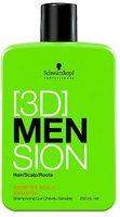 Schwarzkopf [3D]MenSion Sensitive Scalp Shampoo (250 ml)