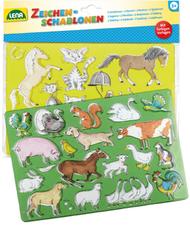 Lena Zeichenschablonen Pferde und Katzen