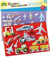 Lena Zeichenschablonen Fahrzeuge und Menschen