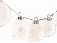Konstsmide LED-Lichterkette 8 weiße Glaskugeln
