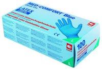 Ampri Blue Comfort Latex Puderfrei Unsteril Blau Gr. M (100 Stk.)