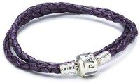 Pandora Basislederband violett doppelt (59705CPE-D)