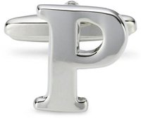 Teroon Unisex-Manschettenknopf Buchstaben Initialen P (608648)