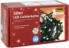 Idena LED Lichterkette 50er warmweiß (8325054)