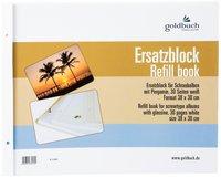 Goldbuch Ersatzblock 38x30 (weiß)
