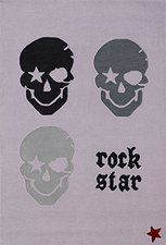 Rock Star Baby Kinderteppich Pirat Totenkopf 130 x 190 cm