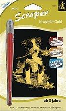 Mammut Scraper Kratzbild mini gold Hund