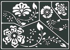 C. Kreul Home Design Window Style Schablone Classic Flowers