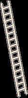 layher Holzanlegeleiter 1052 14 Sprossen