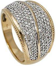 Bella Donna Gelbgoldring mit Diamanten (904538)