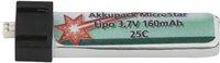 Jamara Akkupack MicroStar Lipo 3.7V 160mAh 25C (140160)