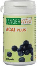 Langer vital Acai 1200 mg/Tg Plus Vitamin C Kapseln (60 Stk.)