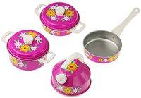 Schopper Geschirrgarnitur aus Stahl pink