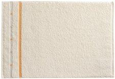 Vossen Quadrati Gästetuch ivory/melon (30 x 50 cm)