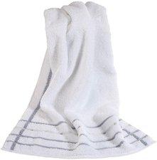 Vossen Quadrati Handtuch (50 x 100 cm) weiß / kiesel