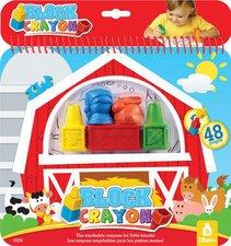 Block Crayon Wachsmaler-Buchset Bauernhof
