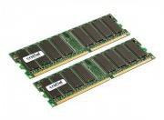 Crucial 1GB Kit DDR PC3200 (CT2KIT6464Z40B) CL3