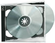 Ednet 91920 10 Jewel Case Dozble für 2 CDs