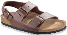 Birkenstock Milano Leather dark brown