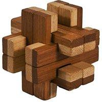 Fridolin IQ-Test - Bambus-Puzzle in Metalldose - Konstrukt (17325)