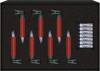 Krinner Lumix Mini Deluxe Christbaumkerzen Erweiterungs-Set 7er rot (75156)