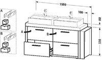 Duravit 2nd Floor Waschtischunterbau 6425 (links)