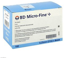 Eurim Bd Micro Fine+ 8 Nadeln 025 x 8 mm (100 Stk.)
