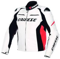 Dainese Racing Pelle weiss/rot